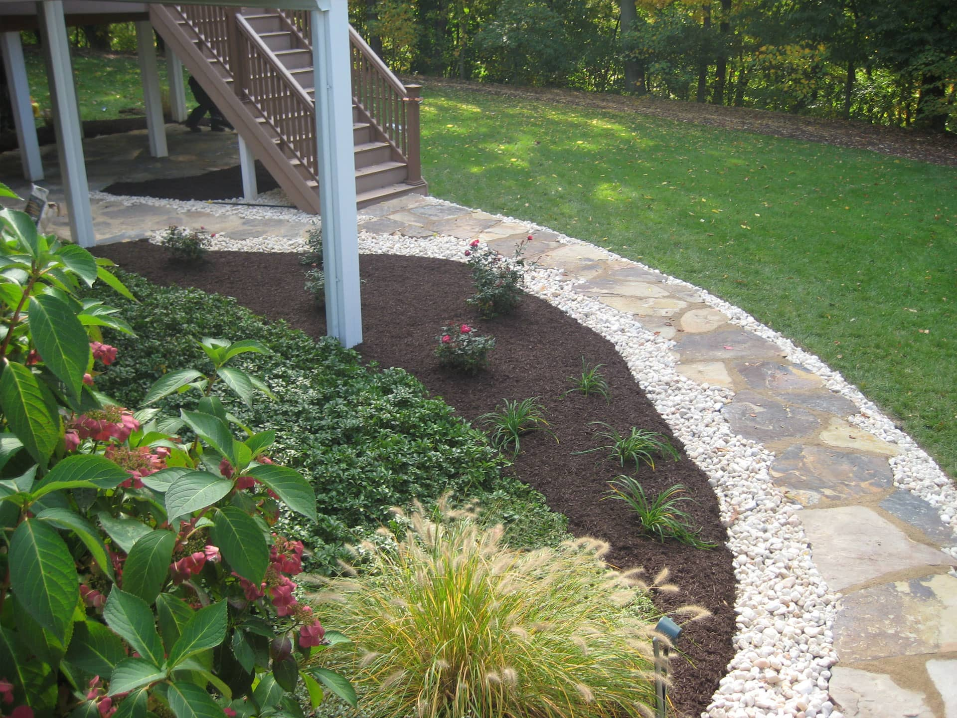 Natural Stone Walkway Schultz S Landscaping