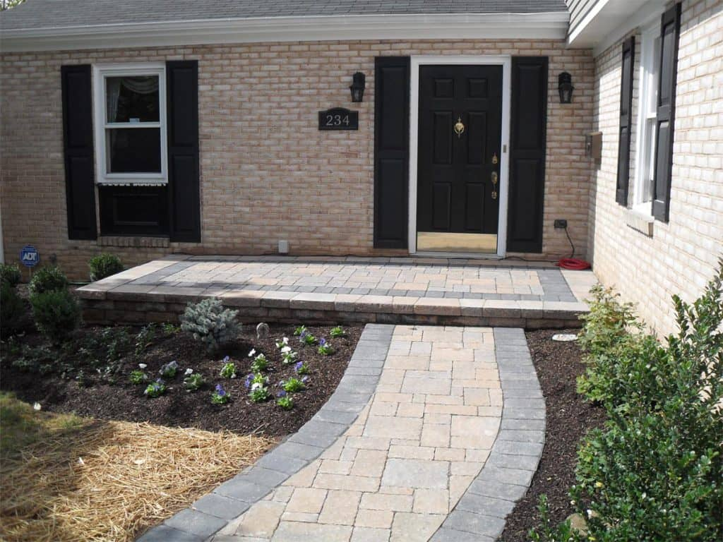 Flagstone Walkway To Front Door